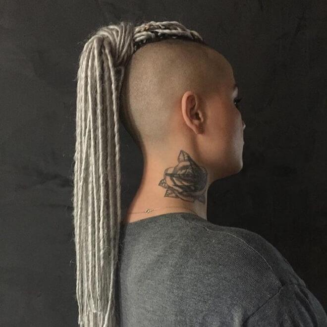 Shaved Side With Twist Braid