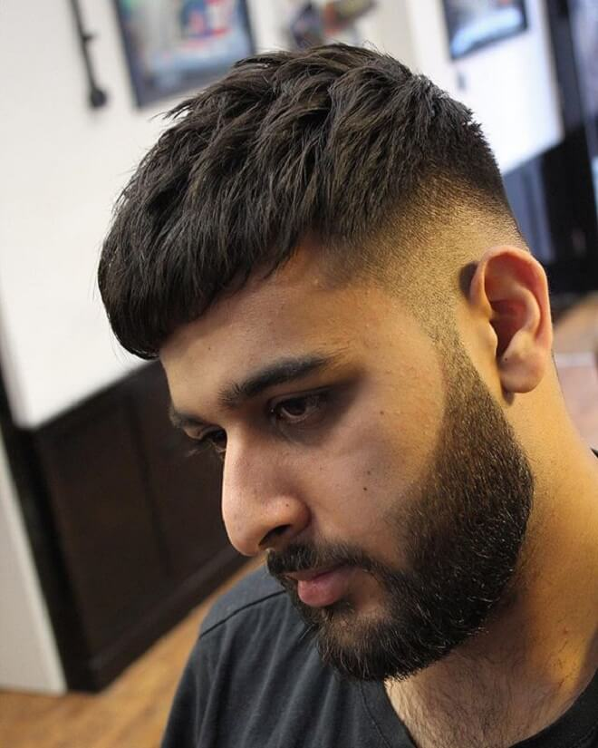 Short Messy Hairstyles With Fade