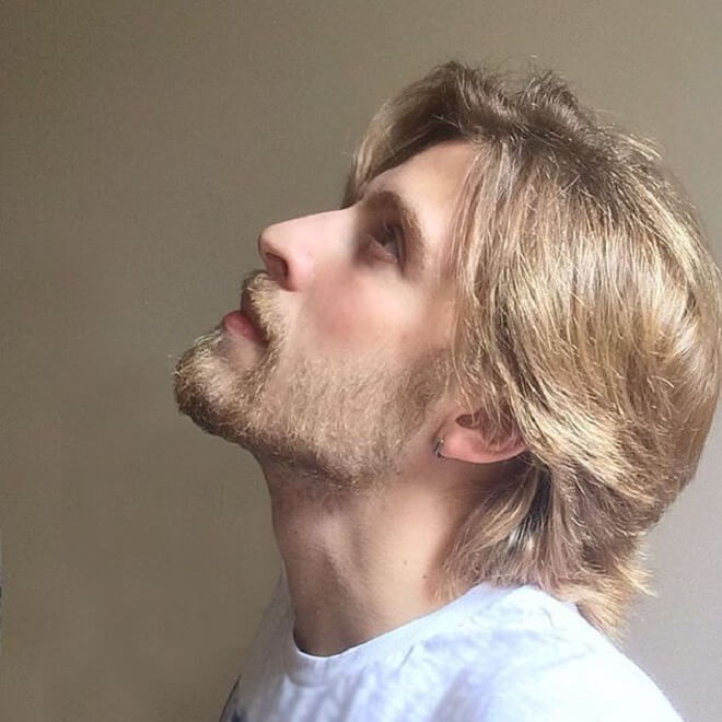 Short and Natural Blonde Beard