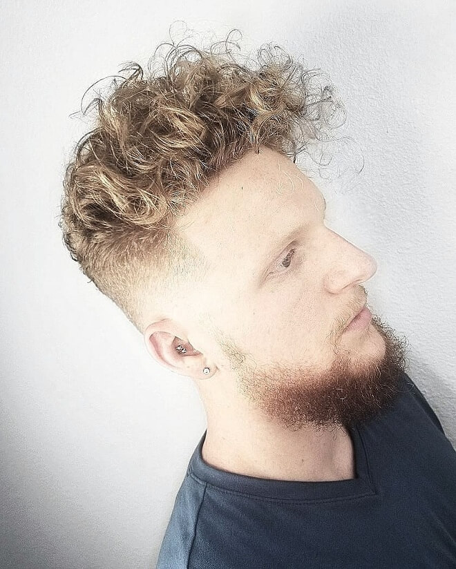 Skin Fade Curly Hairstyle