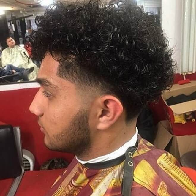 Tape Fade With Messy Curly Hair