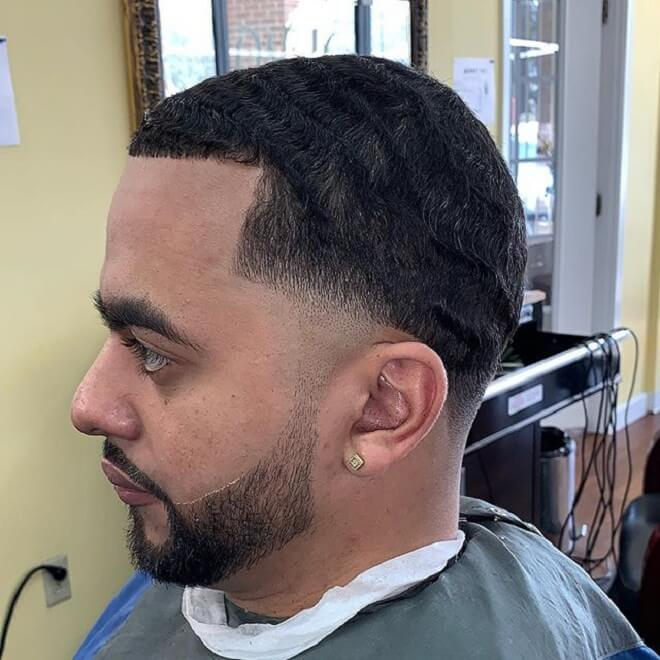 Tape Fade With Wavy Hairstyles