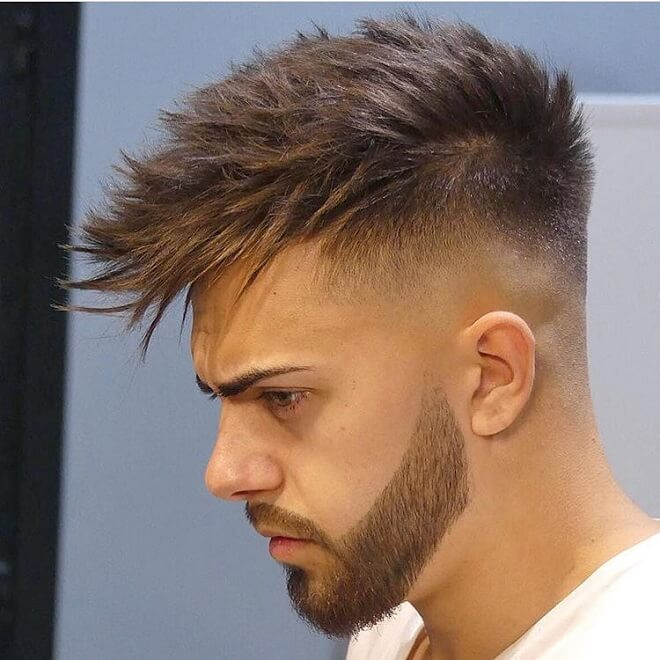 Textured Fringe With Low Skin Fade