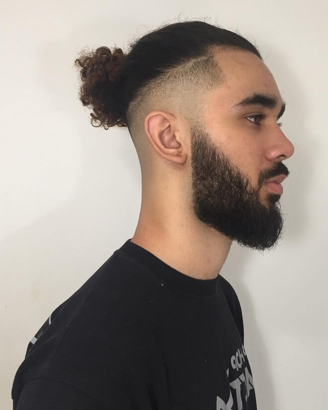 Top Knot With Curly Hair