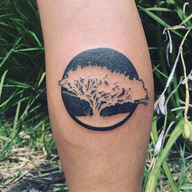 Tree Dot work Tattoo