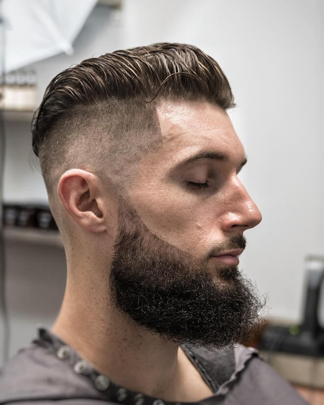 Undercut Fade With Beard Style