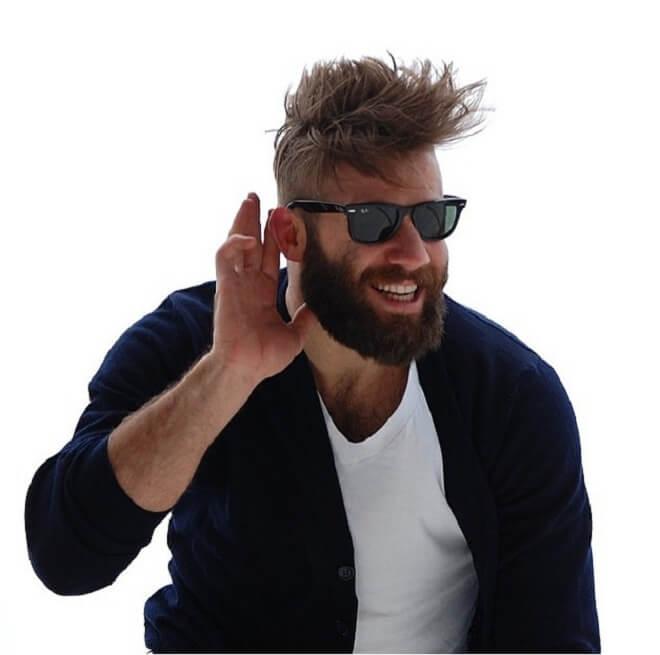 Undercut Fade With Full Beard