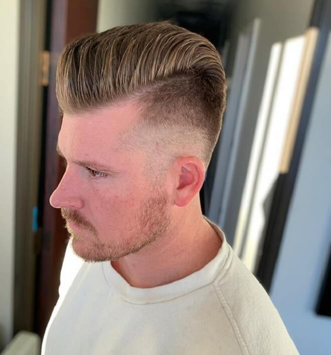 Undercut With Pompadour Style