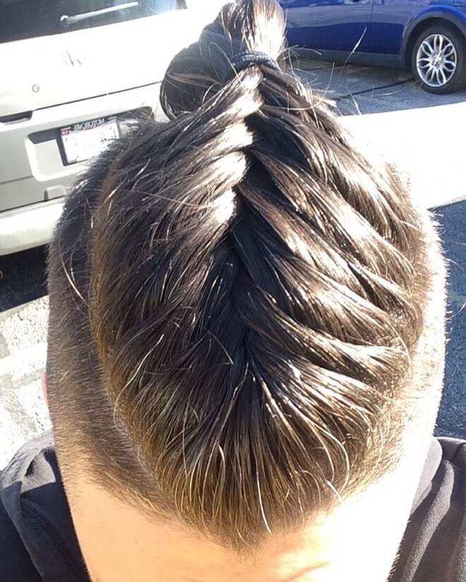 Undercut with Man Braid