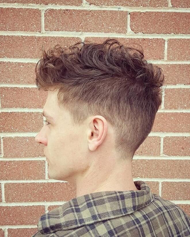 Undercut with Short Curly Hair on Top