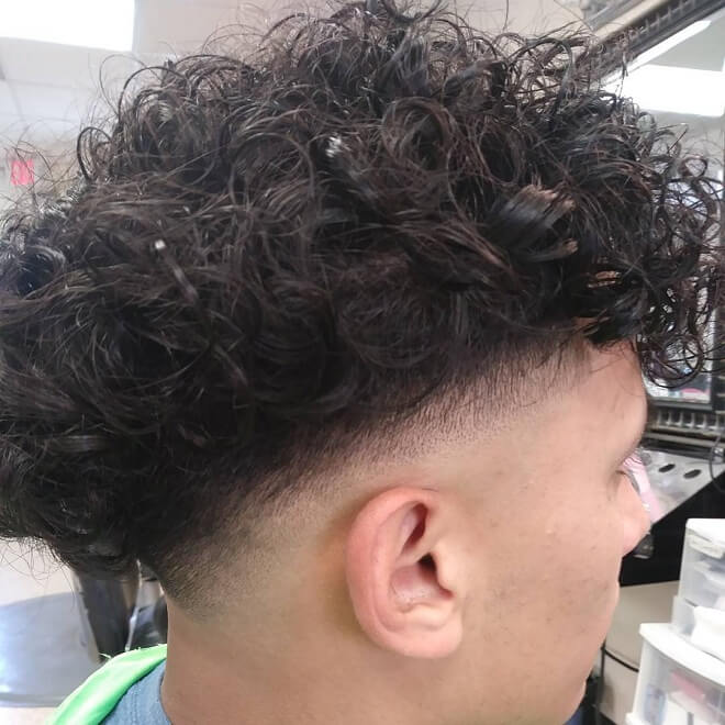 Undercut with Textured Curly Hair