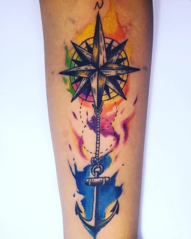 Water Color Tattoo For Men