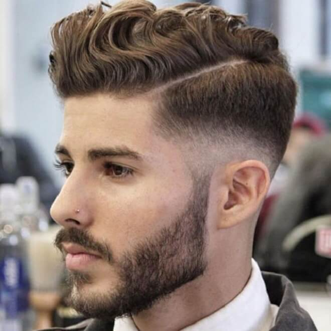 Wavy Hairstyles With Comb Over