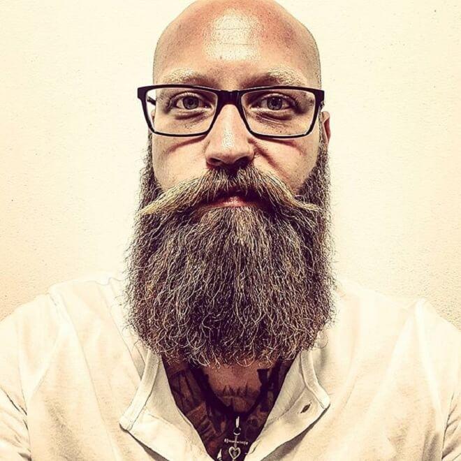 A Bald Guy with a Beard