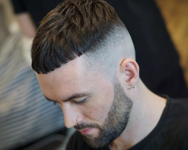 Bald Fade With Beard Style