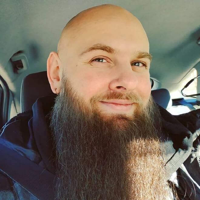 Bald With Long Beard