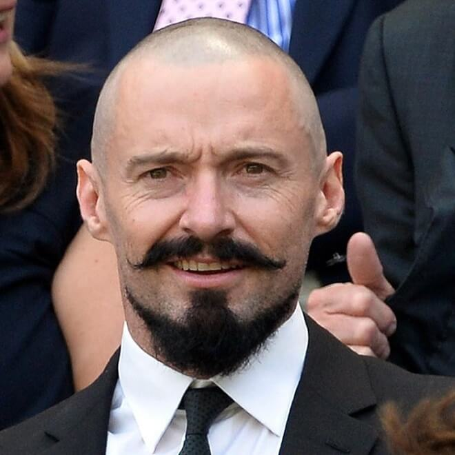 Bald With Van Dyke Beard Style