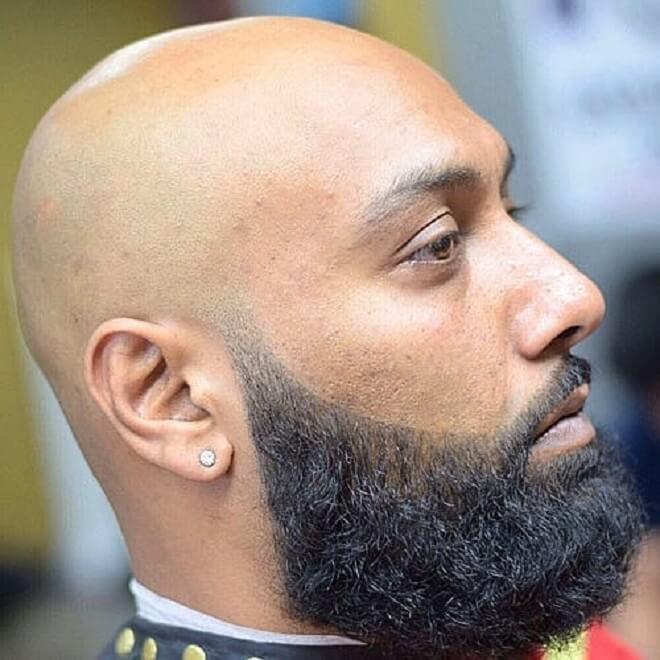 Bald with Beard Fade