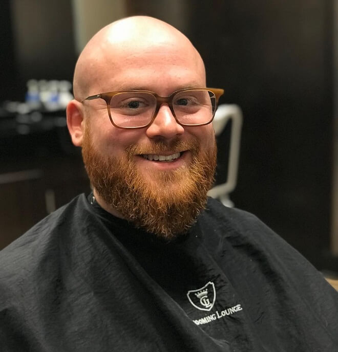 Bald with Blonde Beard