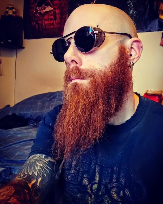 Bald with Ginger Beard