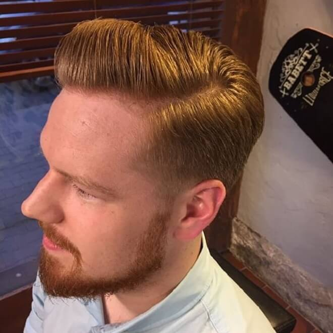 Blonde Hair With Pompadour