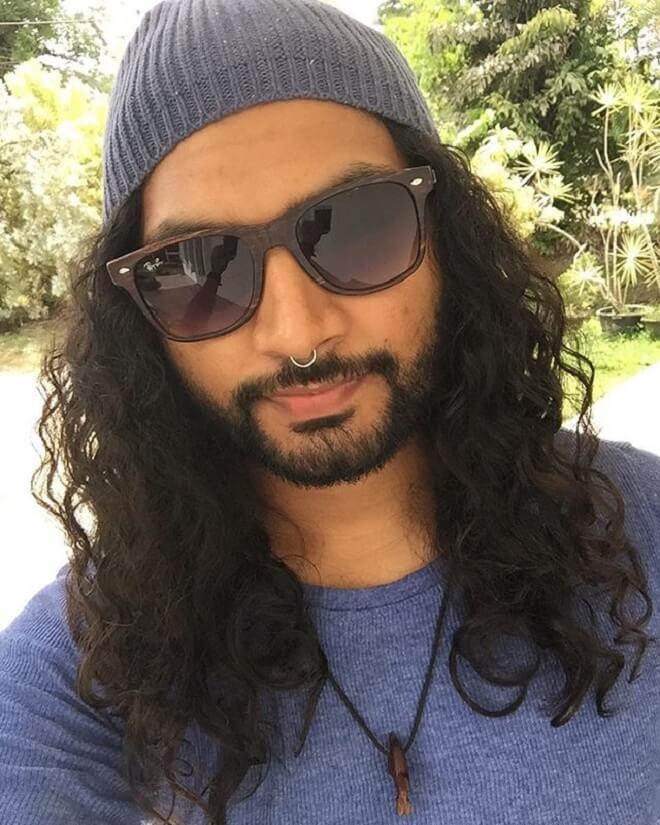 Circle Beard With Long Hair
