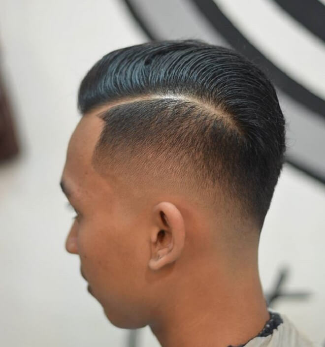 Comb Over Fade with Undercut