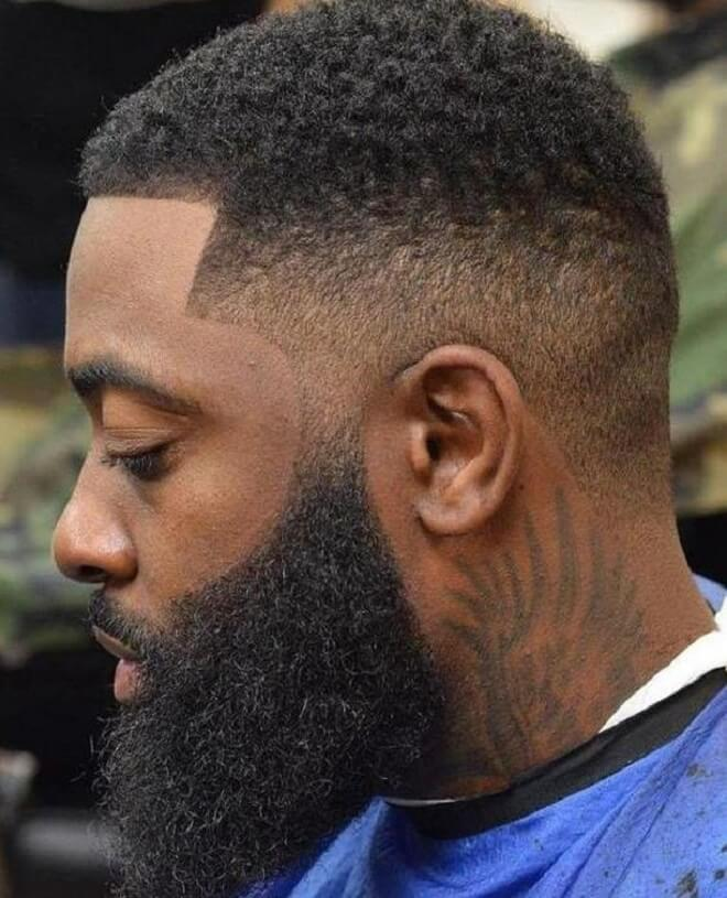Fade Haircut With Beard Style