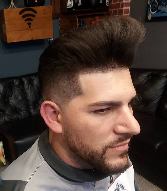 Fade Haircut With Messy Hair