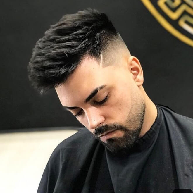 Fade with Textured Quiff Hairstyle