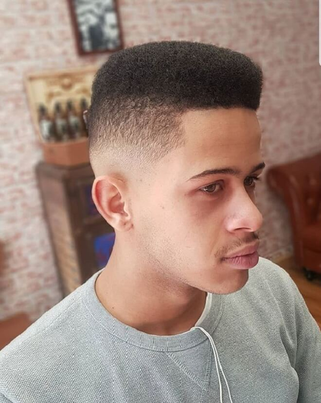 Flat Top Haircut With Low Fade
