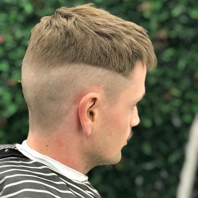 French Crop Cut With Low Skin Fade