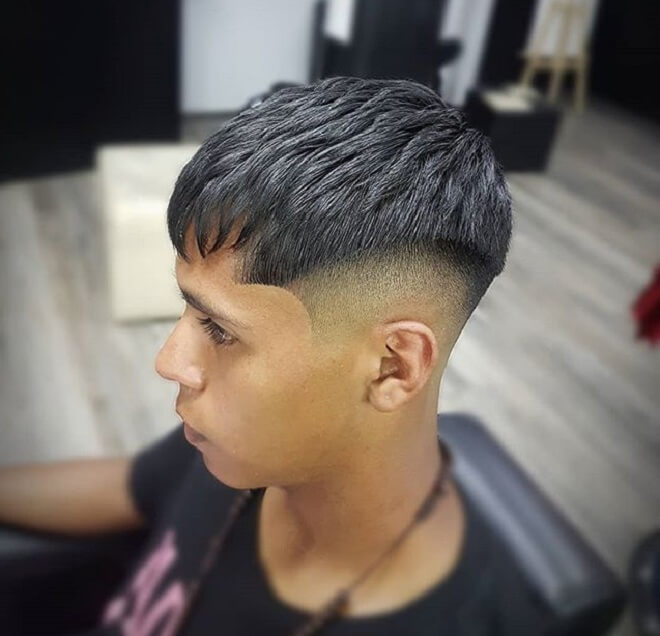 French Crop Cut With Sharp Fade