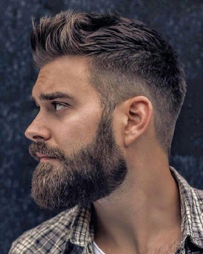 Front Spiky With Beard Style