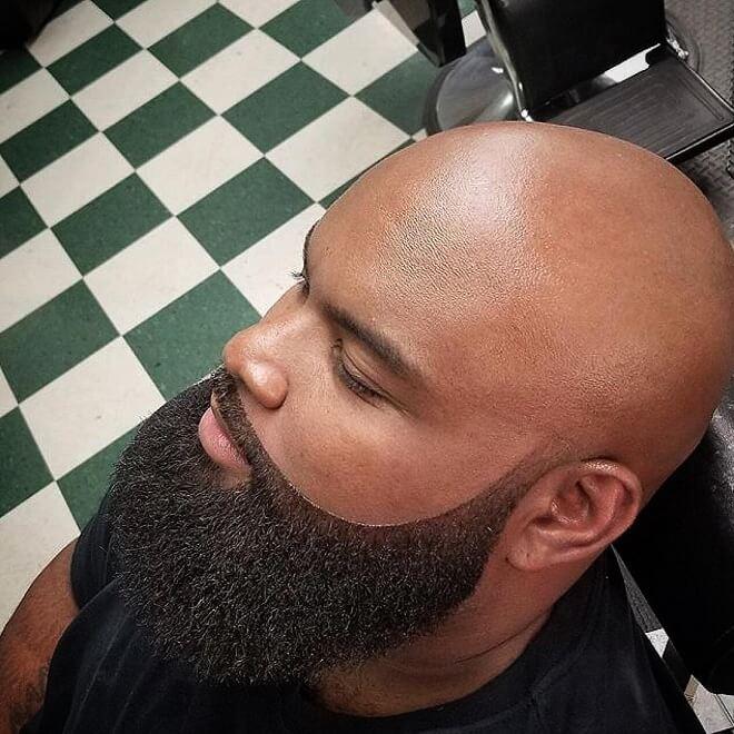 Full Stubble Beard With Bald Head