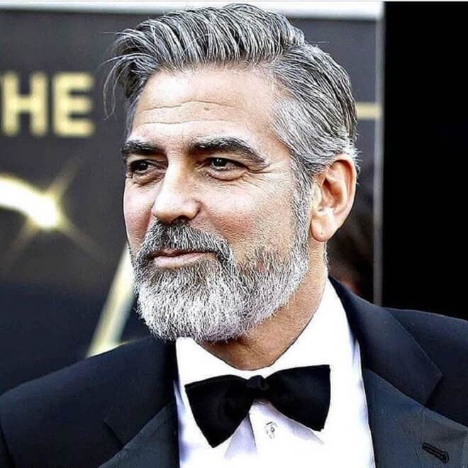 George Clooney Full Beard Style