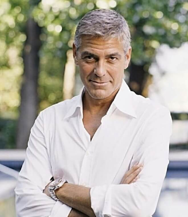 George Clooney Short Haircut