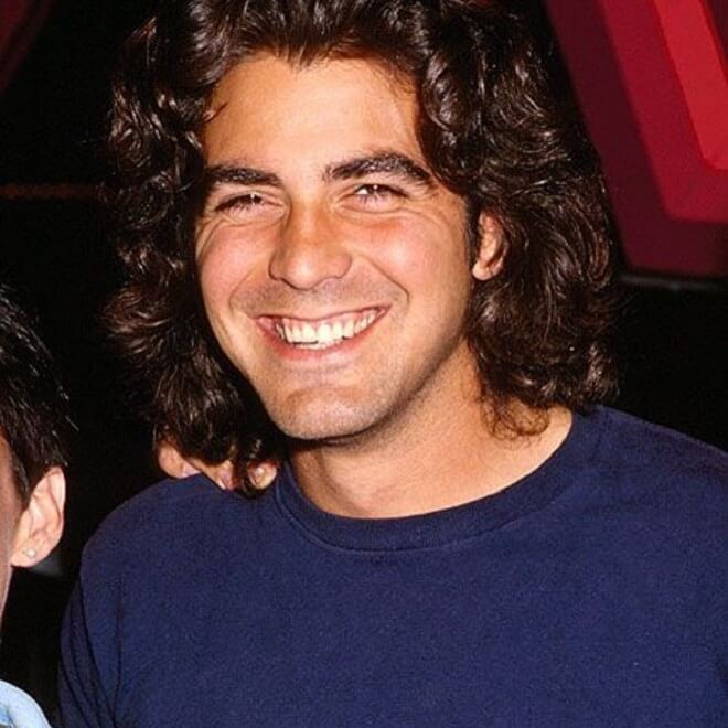 George Clooney Young Hairstyle