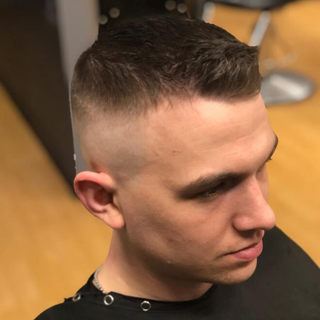 High Bald Fade with Front High