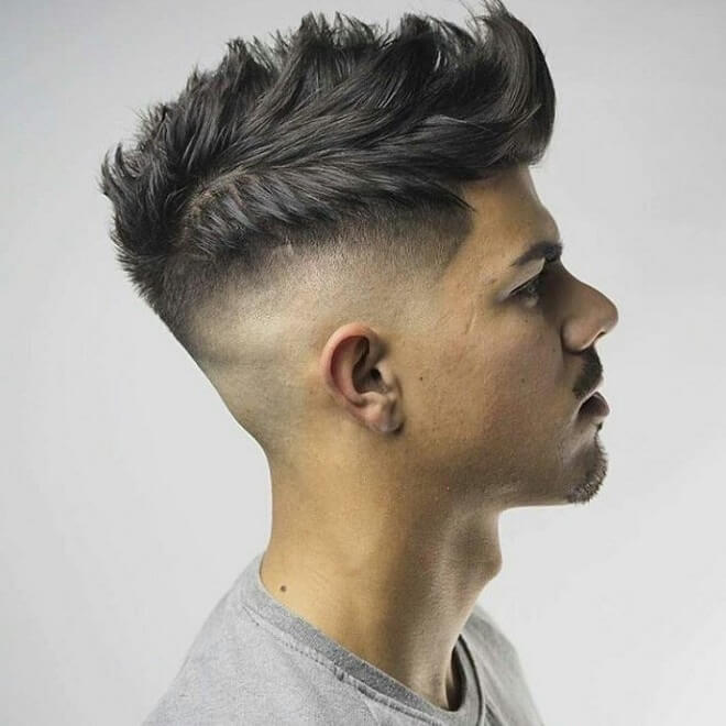 High Fade With Comb Over Spiky