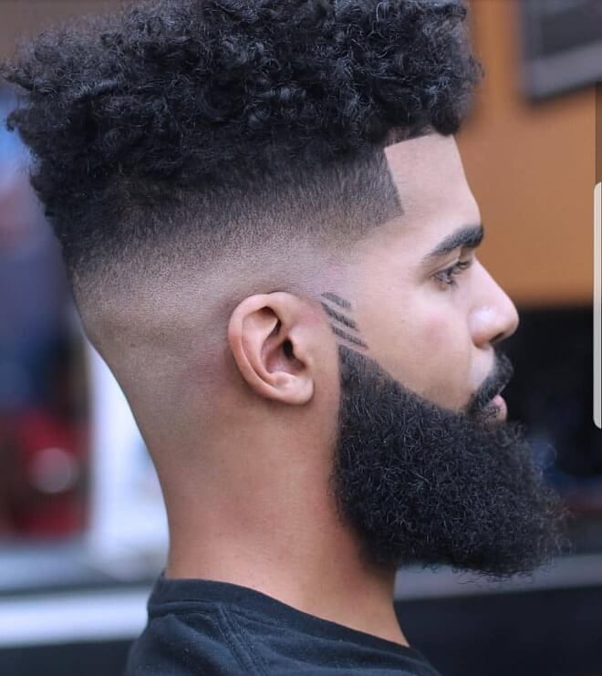 High Fade with Curly Hair