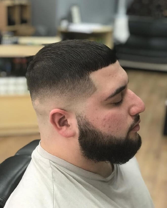 High Skin Fade with Crop Cut