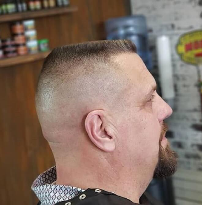 High Skin Fade with Short Flat Top Haircut