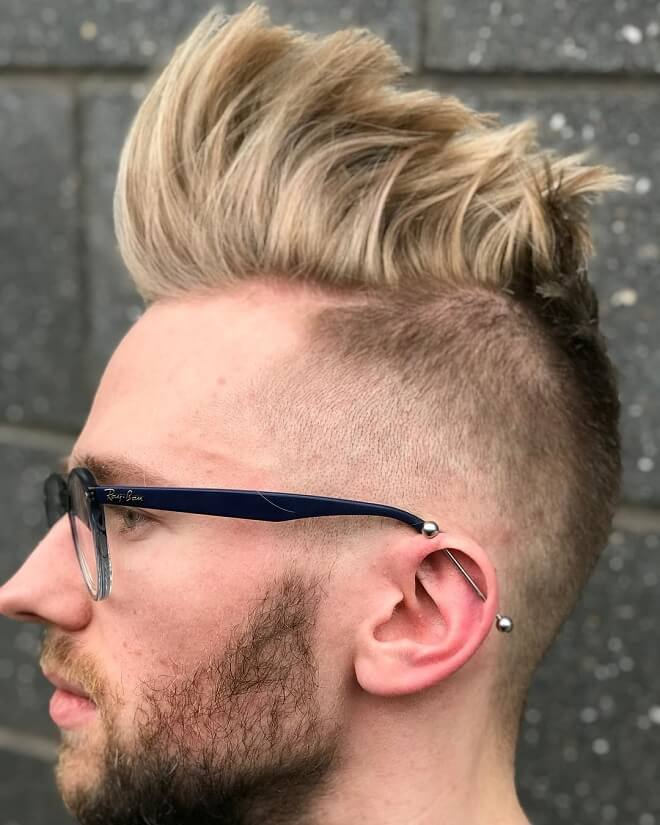 High Top Quiff With Low Temp Fade