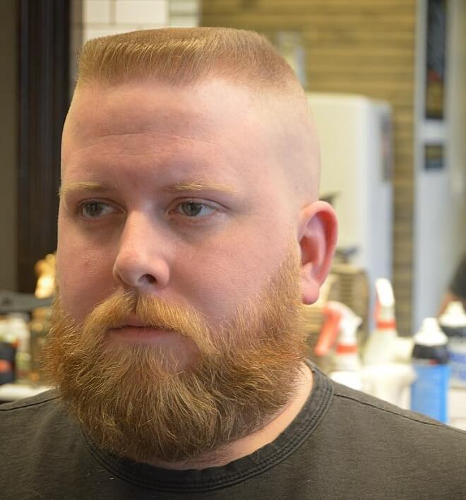 High and Tight Fade Flattop Haircut