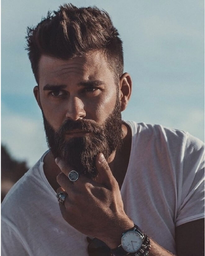 Hipster Hairstyle with Beard Style