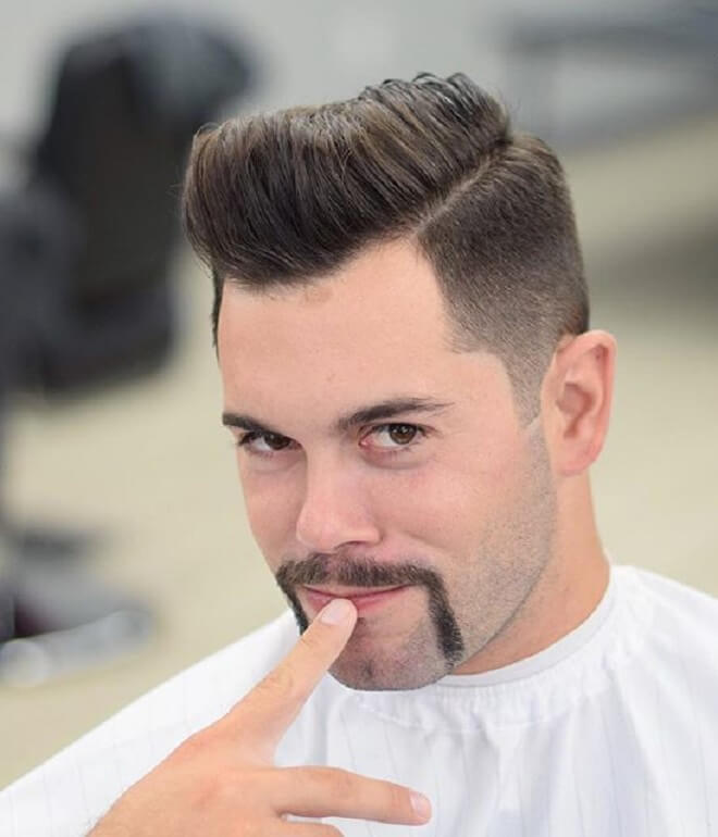 Horseshoe Mustache with Pompadour