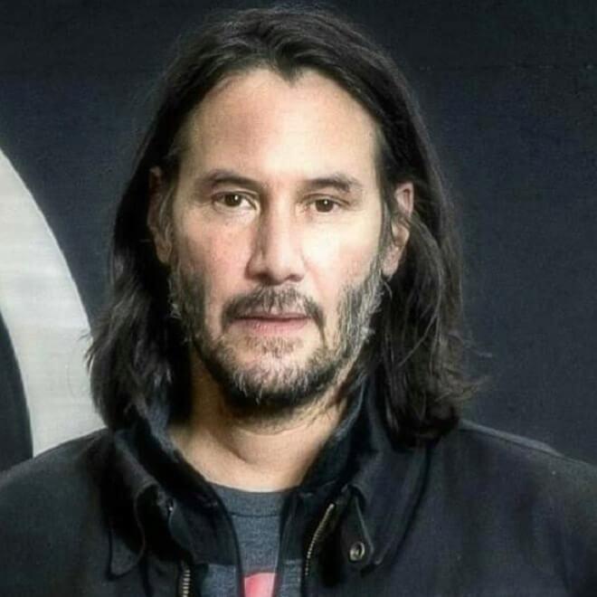 Keanu Reeves Shoulder Length Hairstyle