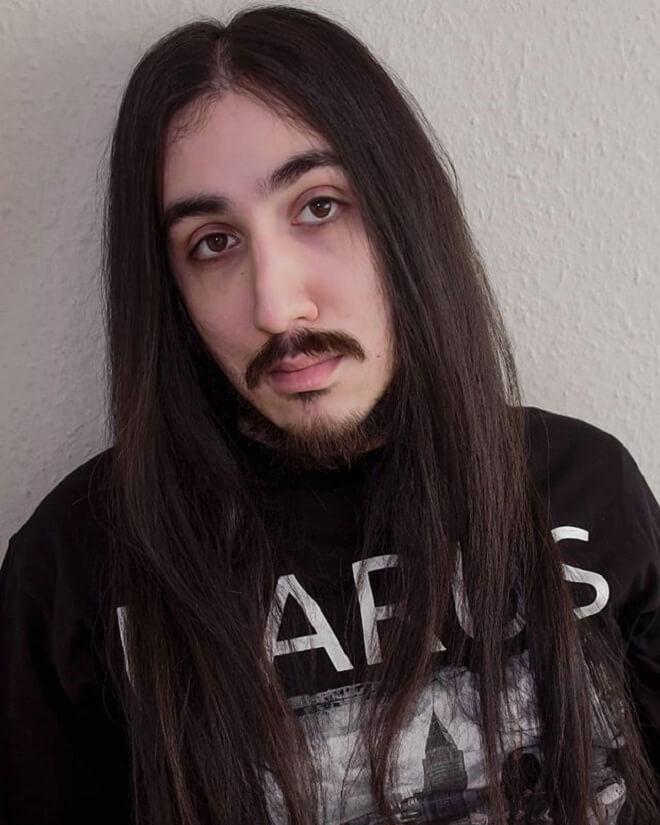 Long Hairstyle with Van Dyke Beard