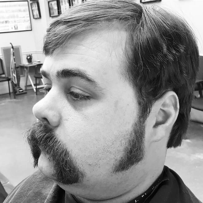 Long Sideburns With Mustache